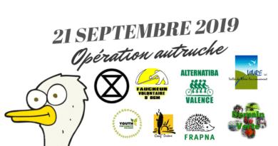 Drôme : Opération Autruche le 21 septembre